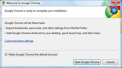 Downloading complete... almost of the Chrome installer file