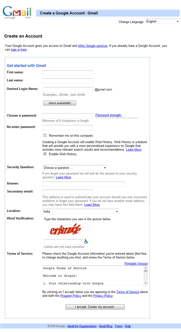 create outlook email form