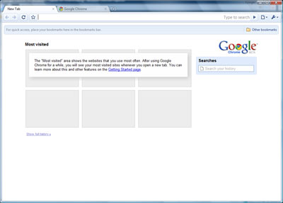 Google Chrome first look
