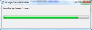 Downloading the Google Chrome installer file