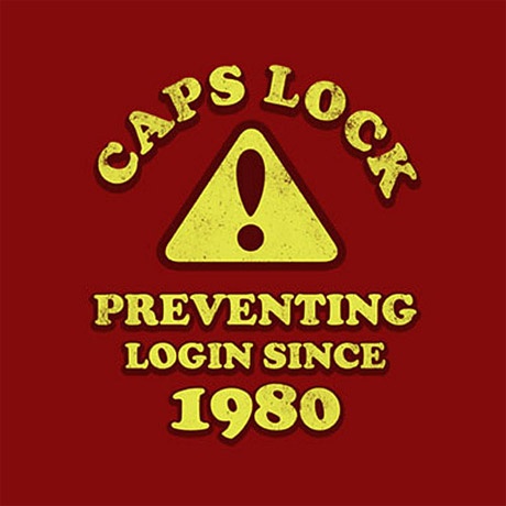 Caps Lock - preventing login since 1980