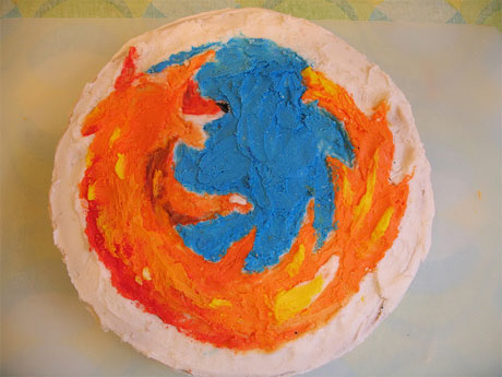 Firefox web browser cake