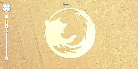 Firefox crop circle: snapshot from the Google Maps app.