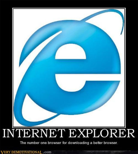 Internet Explorer - the number 1 browser for downloading other web browsers