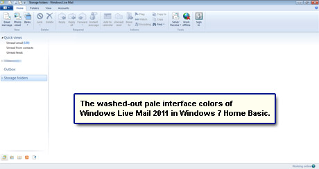 Change Windows Live Mail layout colors - issue