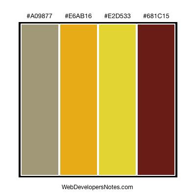 Autumn color combination