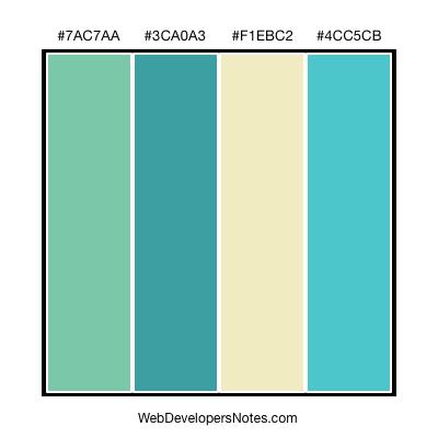 Blue Green Color Combination