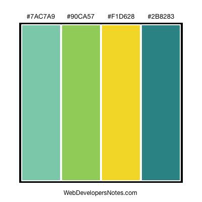 Blue-green colors
