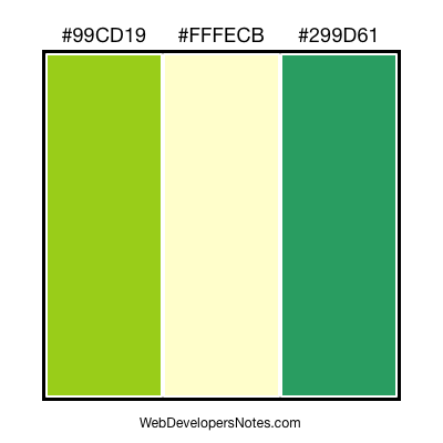 Green color combination #017