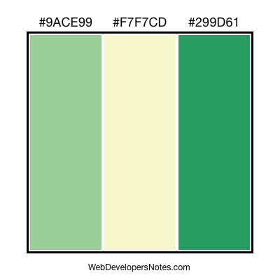 Green color combination #018