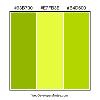 Green color combination #001