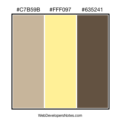 Brown color combination #007