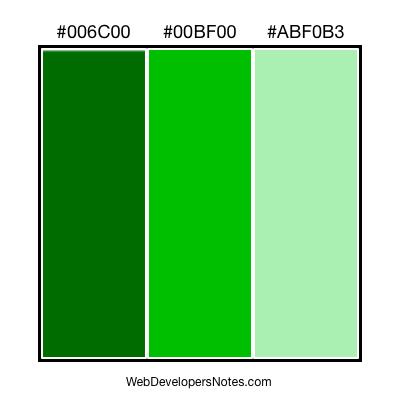 Green color combinations