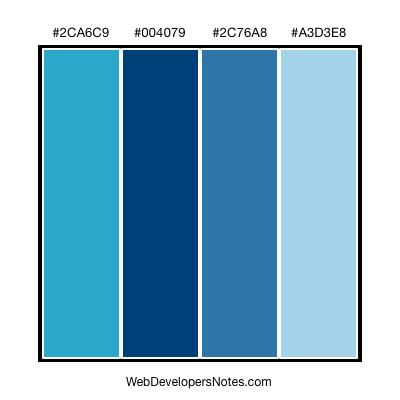 Four blue color combination