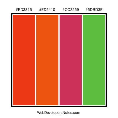 Orange color combinations - Combination of orange color ...