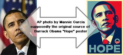 Obama Hope Poster Original Photo The Barack Obama Hope Poster