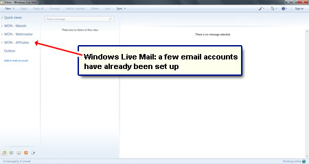 How to set up AOL email set up in Windows Live Mail using