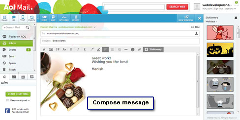 Compose your email message