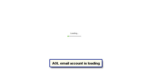 AOL email account loads