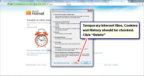 how to delete web browser