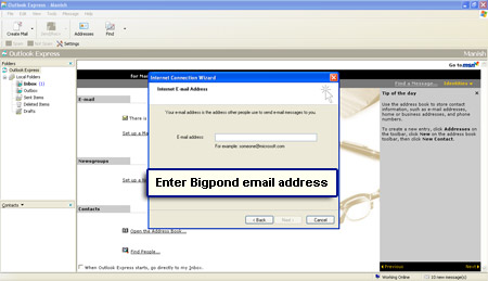 how to open bigpond email address
