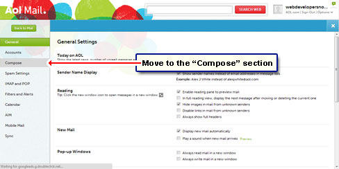 Move to the Compose section