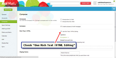 Use Rich Text / HTML editing mode