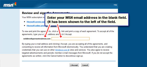 How to get a free MSN email address?