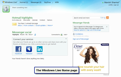 how to logout of windows live email account