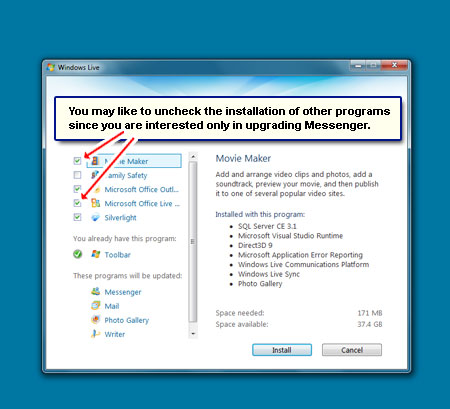 how to get rid of windows messenger windows 10