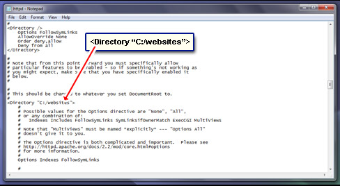 The directory that has web site files include PHP scripts