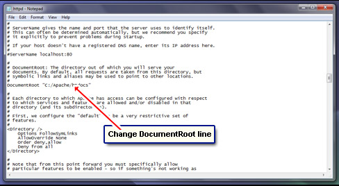 Change the Document root