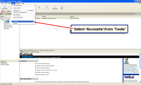 set up aol on outlook express download email to computer