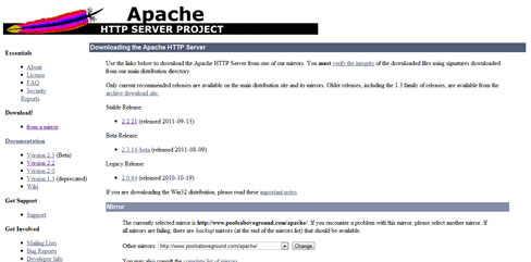 Install Apache on Windows 7