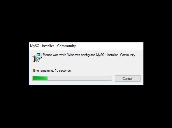 Double-click MySQL .mis file to start installation