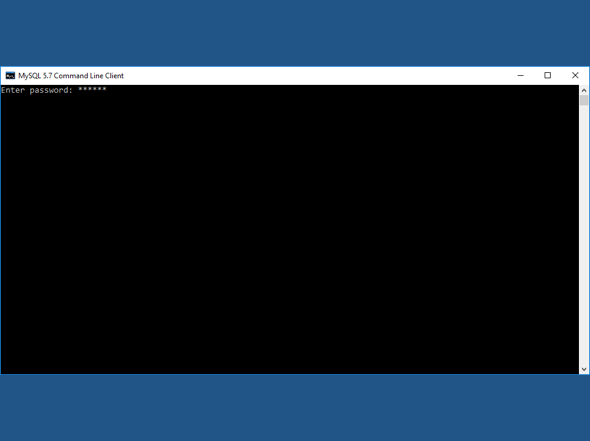 Enter MySQL password