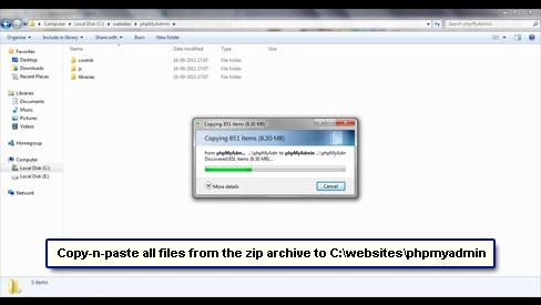install phpmyadmin windows 7