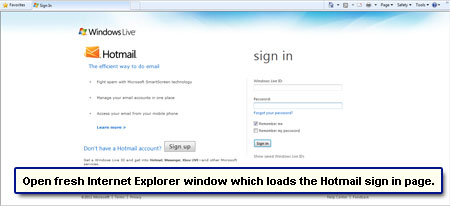 Forgot Password For My Hotmail Account