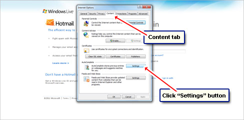 how to change my hotmail account settings