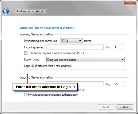 how to set up bigpond email account windows live mail