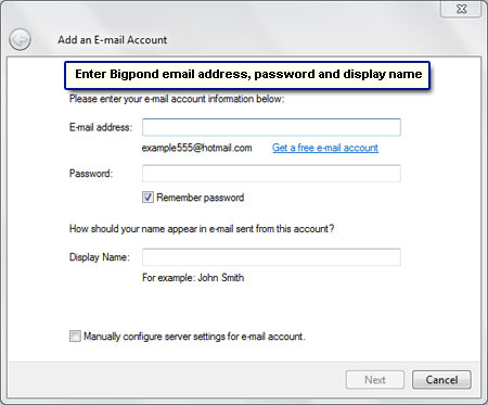 Bigpond mail settings