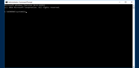 Command Prompt window opens
