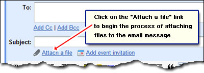 Attaching files to email messages in Gmail