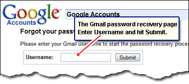 gmail account lost password
