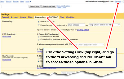 how to set mail forwarding in gmail