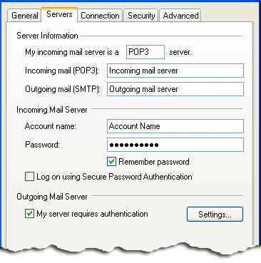 My server requires authentication - Setting up Gmail on Outlook Express