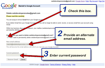 Close and delete your Gmail account