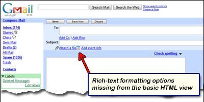 Gmail version - the basic HTML and standard views of your email ...