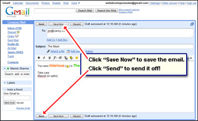send email from your Gmail account