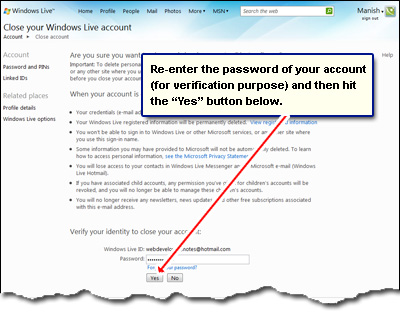 how to delete my yahoo email account